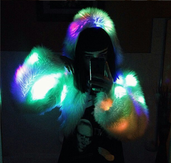 Check Out The Lights Over The: Light Up Cropped Jacket Colors